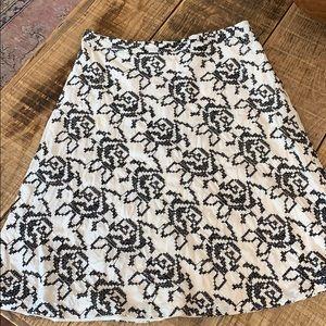Michael Kors A-Line skirt, size 6. White, black